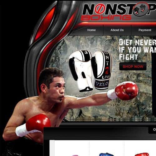None Stop Boxing- eBay store front design