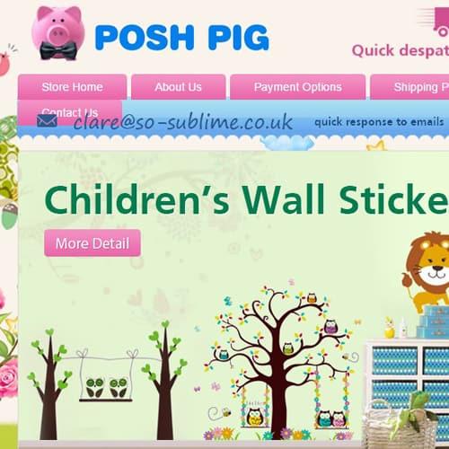Posh Pig - eBay store front design