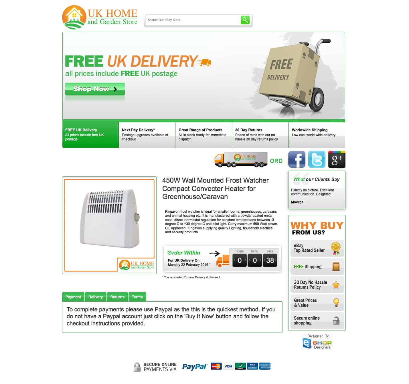 Uk Home And Garden Store Ecommerce Website Designers